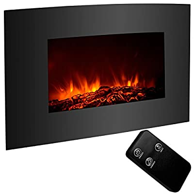 """Alek...Shop Large 33""""x22"""" Fireplace Electric Insert Heater Insert Wall Mount Flame with Remote Control, Home Decor"""