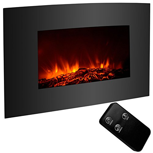 Classic Family Electric Fireplace Elegant Wall Mount Heater with Remote Adjustable 1500W 35
