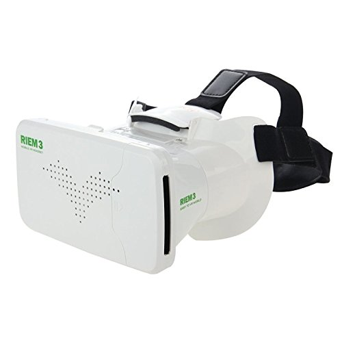 RITECH RIEM 3 Universal Virtual Reality 3D Video Glasses for 3.5 to 6 inch Smartphones(White)