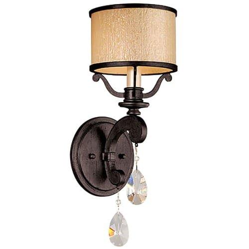 Corbett Bronze Lighting (Corbett Lighting 86-61 Roma - One Light Wall Sconce, Classic Bronze Finish with Cream Ice Glass with Clear Crystal)
