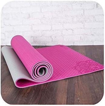 Amazon.com : Hot Heaven Dature TPE Yoga Mat 6mm Fitness Mat ...