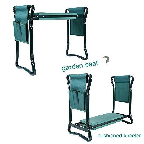 Cool Ohuhu Garden Kneeler And Seat With 2 Bonus Tool Pouches 85 Machost Co Dining Chair Design Ideas Machostcouk