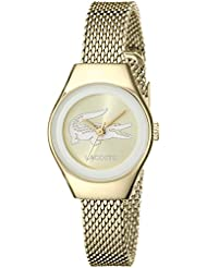 Lacoste Womens 2000876 Valencia Mini Gold-Tone Stainless Steel Watch