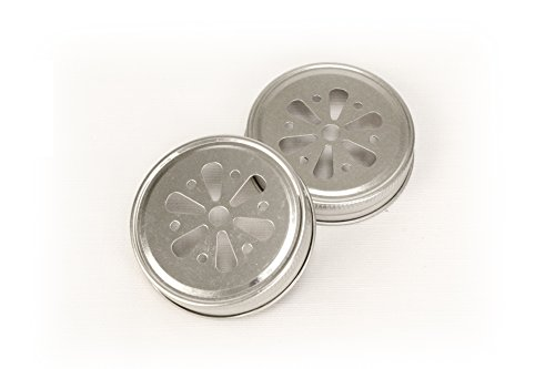 Kate Aspen Mason Jar Lids, Flower, Set of 12 ()