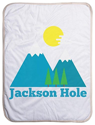 Jackson Hole, Wyoming Bluebird Mountain - Jackson Hole Sherpa Baby Blanket (40