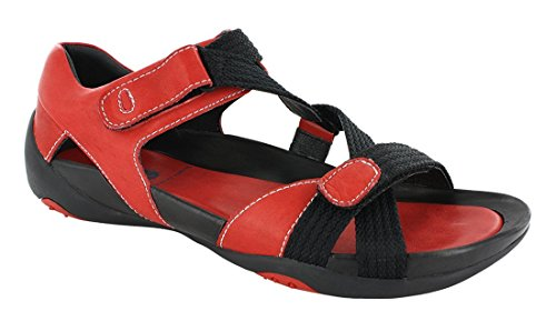 Jewel Leather Womens Smooth Leather 3204 Red Wolky Sandals 7nApwqEO00