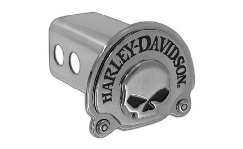 ler Hitch Cover Plug 3D Willie-G Skull Emblem (2 inch post) (Harley Davidson Tow Hitch Cover)