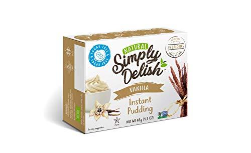 Simply Delish Natural Instant Vanilla Pudding - Sugar Free, Non GMO, Gluten Free, Fat Free, Lactose Free, 1.7 OZ (Pack of 6) ()