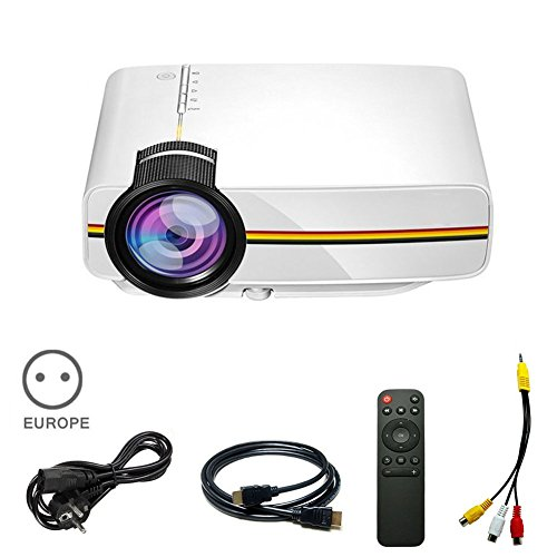 Qjoy LED Mini Multimedia Projector Support PC Laptop Smartph