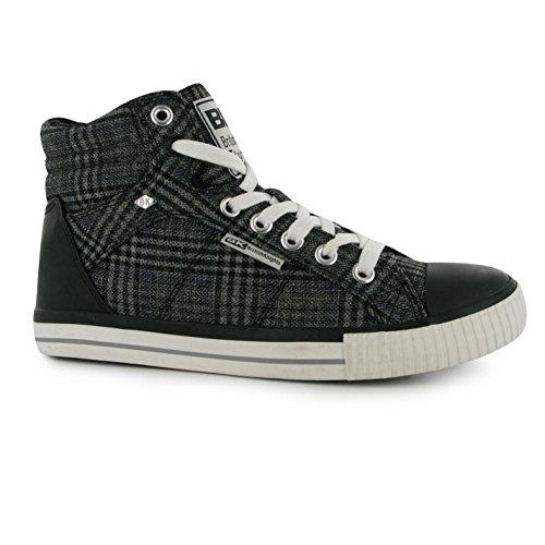 British Knights DEE Canvas Hi Sneaker BLK/GRY Sport Schuhe Herren Sneaker Schuhe