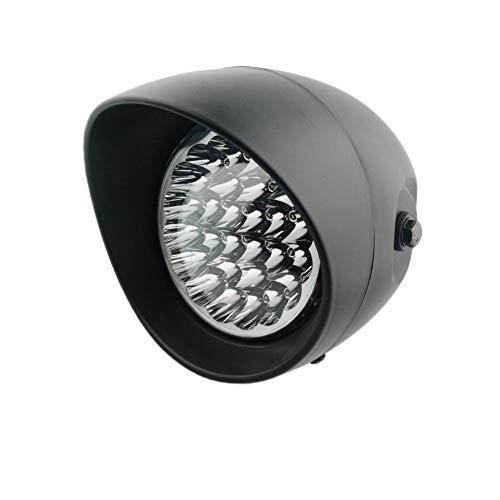 Bullet Headlamp - Universal Black Clear Lens 7