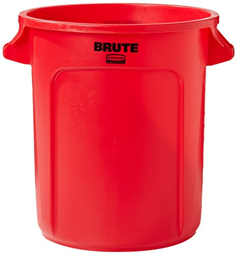 Rubbermaid Commercial FG261000RED BRUTE Heavy-Duty Round Waste/Utility Container, 10-gallon, (10 Gallon Brute Round Container)