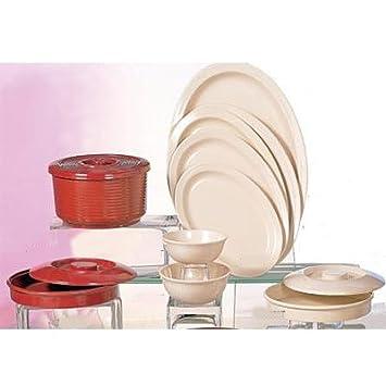 Nustone Tan Melamine Narrow-Rim Oval Platter - 12\u0026quot; ...  sc 1 st  Amazon.com & Amazon.com   Nustone Tan Melamine Narrow-Rim Oval Platter - 12\