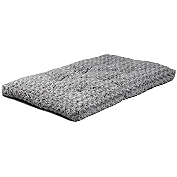 "MidWest Quiet Time Ombre Swirl Deluxe Pet Bed, 40""x 27"" Gray"