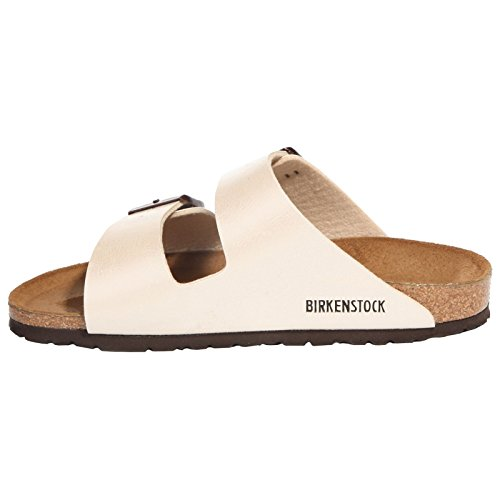 Birkenstock Womens Arizona Graceful Pearl White Birko-Flor Sandals 39 EU by Birkenstock (Image #1)