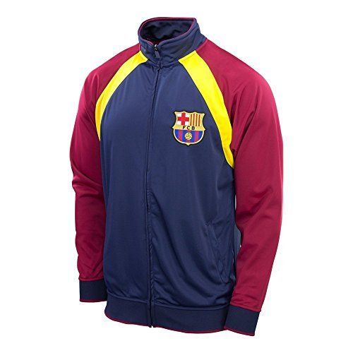 (Fc Barcelona Jacket Track Soccer Adult Sizes Soccer Football Official Merchandise (YELLOW - BLUE, L))
