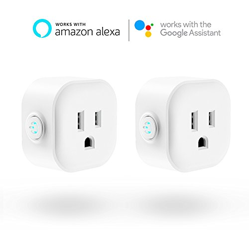 WiFi Smart Plug, Maxcio Mini Wireless Remote Control Electrical Smart Plug Mini Outlet, Compatible with Amazon Alexa and Google Home- 2 Packs