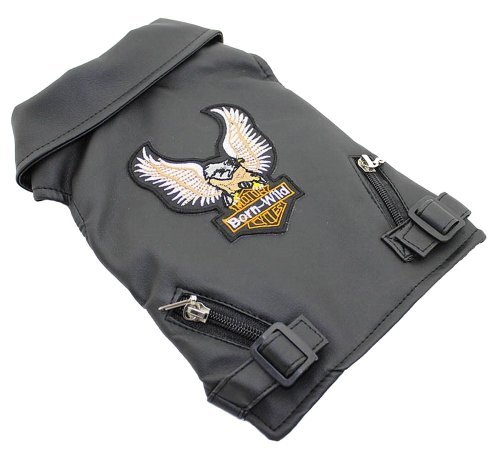 Eagle 5 Embroidery (Lovelonglong Pet Clothes Dog Leather Jacket Coats Eagle Designer Embroidery 5 Color Wholesale)