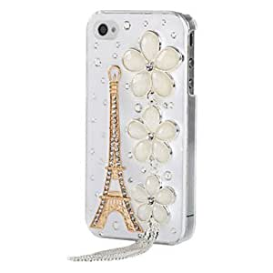 Joyland Tower Fringed Flowers Metal Ornament Jewelry Case for iPhone 4/4S