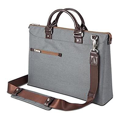 94fb200d59 Amazon.com  Moshi Urbana Briefcase – Slim Laptop Case with Shoulder Strap -  Mineral Gray  Computers   Accessories