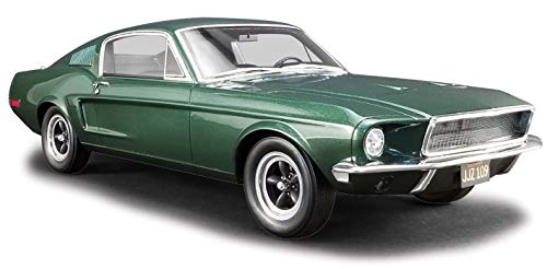 1968 Ford Mustang GT Fastback Highland Green Bullitt (1968) Movie 1/12 Model Car by Greenlight for Acme US011