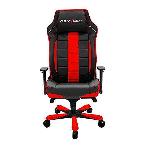 DXRacer Classic Series DOH/CE120/NR Big and Tall Chair Racing Bucket Seat Office Chairs Comfortable Chair Ergonomic Computer Chair DX Racer Desk chair (Black/Red)