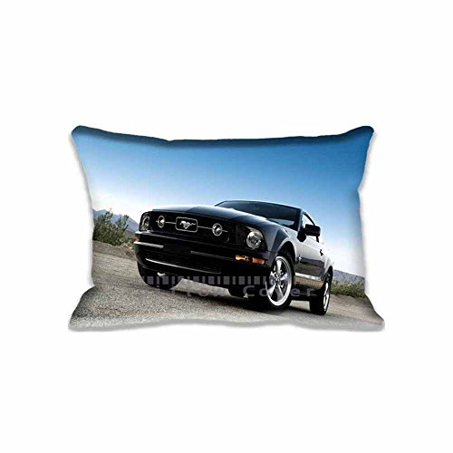 Ford Mustang Black Pillow Covers Decor Cars Pillows Bedroon Living Room Decoration Cases Cotton Zipperd , Personalized Ford Chair Cushions Covers (Throw Ford Mustang)