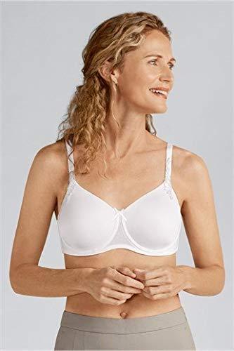 Amoena Women's Bianca Underwire Pocketed Spacer Convertible Bra Bra, White, 34C