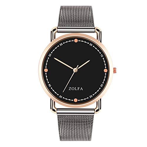 XBKPLO Mens Quartz Watch,Numeral Minimalist Business Fashion Gentleman Analog Wrist Watches Stainless Steel Mesh Strap