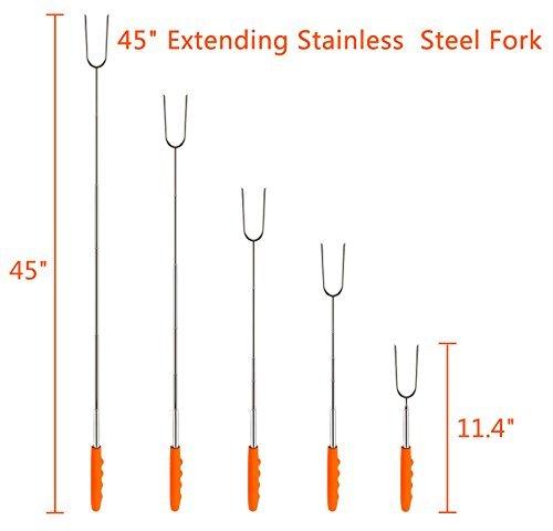 Marshmallow Roasting Sticks-Telescoping Marshmallow Sticks, Hot Dog Roasting Sticks, 45\