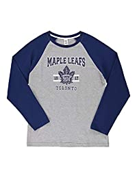 NHL Men's Pajama Top | Toronto Maple Leafs Cotton Long Sleeve Pullover Size XL