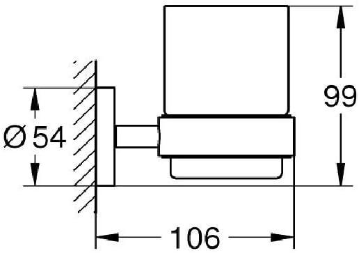 Jabonera Rectangular   Ref 40755001 Soporte de vaso Grohe
