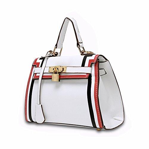 JPFCAK Ms Handbag Handbag PU Leisure Retro Fashion Lady Bolsos Bolso De Cuero Black