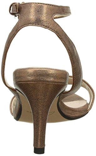 Clarks 261260844, Sandalias de Tacón Mujer Gris (Bronze Leather)
