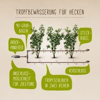 50 m START-SET 16 mm Tropfrohr Baukasten Gartenschlauch *TOP*