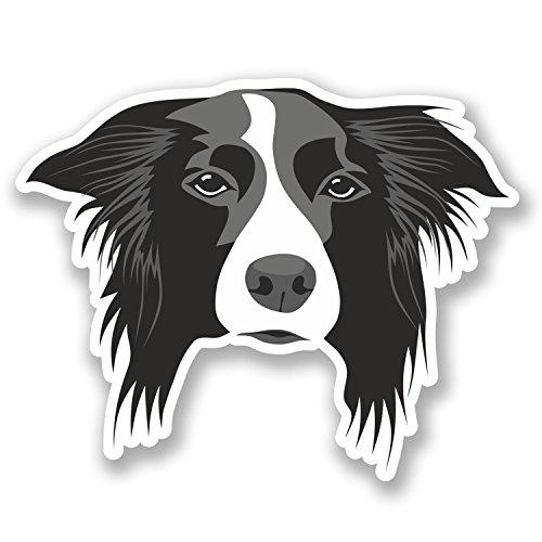 2 x Border Collie Dog Vinyl Stickers