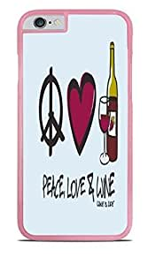 Peace Love Wine Pink Hardshell Case for iPhone 6 (4.7) by supermalls