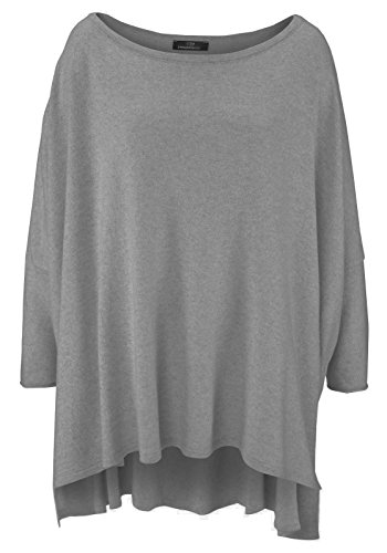 & # 10084; Zwilling Corazón Mujer & # 10084; Cachemira Jersey & # 10084; gris