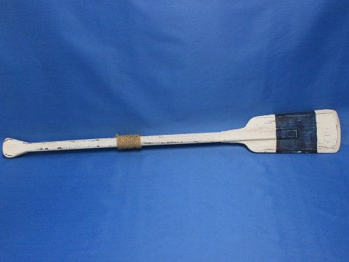 "Hampton Nautical  Wooden Rustic King Harbor Rowing Oar with Hooks, 36"", Wood"