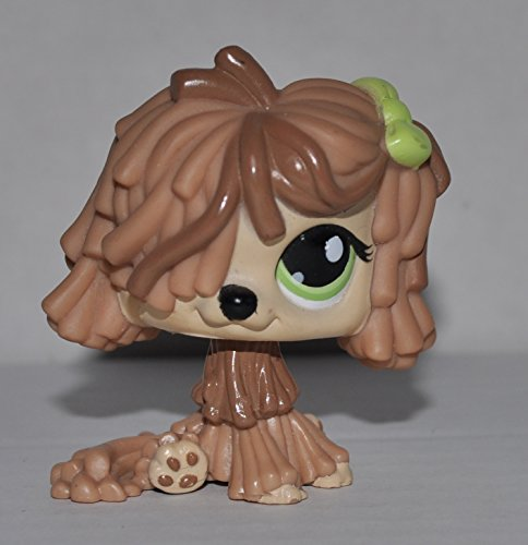 Sheepdog (Light Brown, Green Eyes) - Littlest Pet Shop (Retired) Collector Toy - LPS Collectible Replacement Figure - Loose (OOP Out of Package & Print)