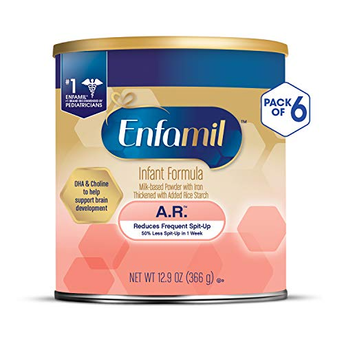 Enfamil A.R. Infant Formula - Clinically Proven to reduce Spit-Up in 1 week - Powder Can, 12.9 oz (Pack of 6) (Enfamil Ar)