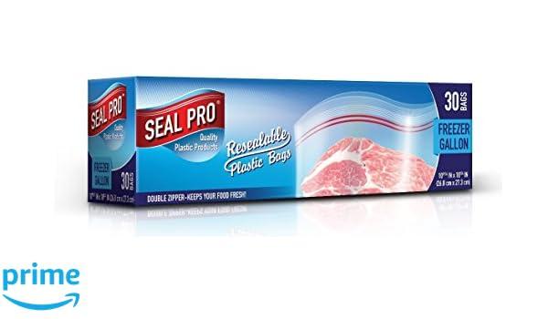 Bolsas de plástico para congelador SealPro con cremallera de ...