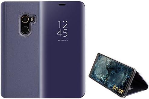 Funda® Espejo Enchapado Flip Xiaomi Mi Mix 2 (Púrpura): Amazon.es ...