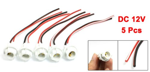 Amazon.com: uxcell 5 Pcs White W5W T10 Car Light Socket Lamp Bulb Holder Wire Harness Connector: Automotive