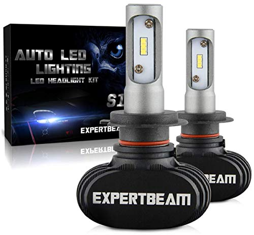 EXPERTBEAM H7 LED Headlight Bulbs, Led Headlight Conversion Kit, 8000Lm 6500K Cool White, LED CSP Chip (5-Yr-Warranty)