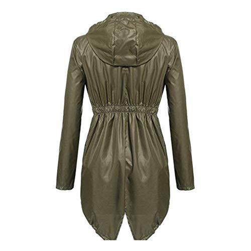 Giacche Giaccone Donna Giovane Puro Colore Lunga Fresco Classiche Elegante Armygreen Donne Antipioggia Moda Outerwear Di Cose Giacca Primaverile Autunno Cappotto Manica rYOY6qfwg