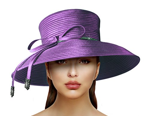 Red Hat Society by Luke song Wide Width Tiffany Brim Hat ARQ14 … (Dresses Red Society Hat)