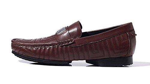 Happyshop (tm) Nouveau Cuir Véritable Glisser Sur Penny Loafer Hommes Chaussures De Voiture Chaussures Daffaires Café