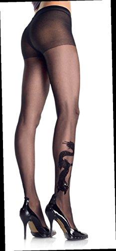 Leg Avenue Dragon Tattoo Sheer Pantyhose (Leg Avenue Nylon Leggings)