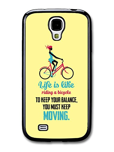 a Bicycle Albert Einstein Life & Love Inspirational Quote case for Samsung Galaxy S4 ()